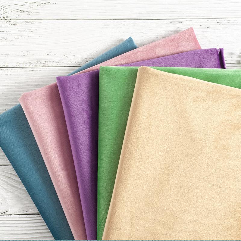 Vải dệt may Nhà máy trực tiếp bán buôn dày quần áo nhung Hà Lan dệt vải flannel vải rắn màu vải sofa