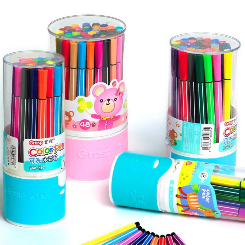Đồ mỹ nghệ Học sinh văn phòng phẩm bút màu nước bán buôn 8008-36 màu tùy chọn phim hoạt hình dễ thươ