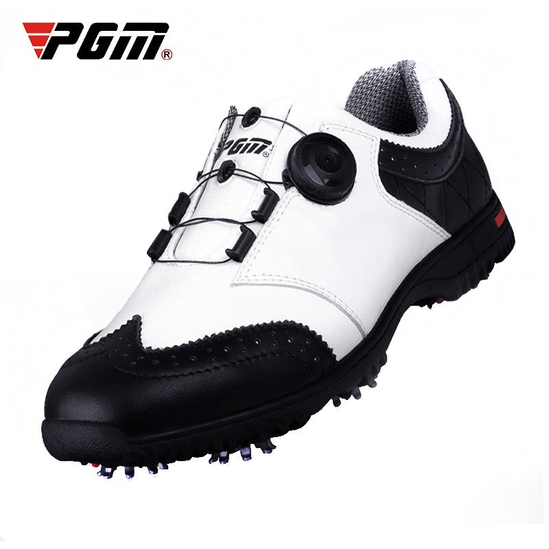 Giầy dép PGM giày golf nam hoạt động giày đinh không thấm nước thoáng khí giày nam xoay giày dây già