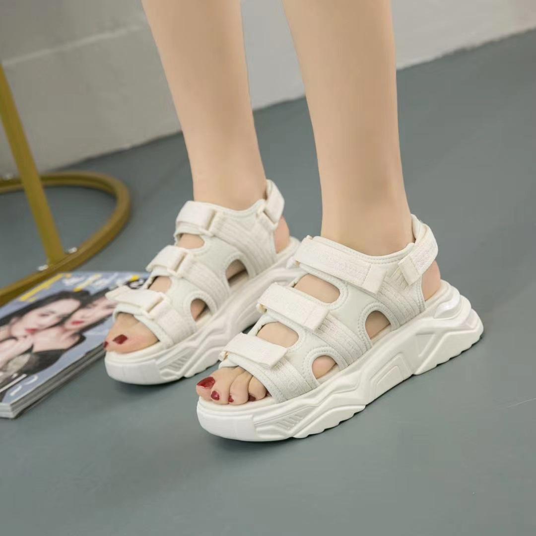 giày bánh mì / giày Platform Giày đế dày thể thao phong cách sandal nữ 2020 mùa hè mới giầy hoang dã