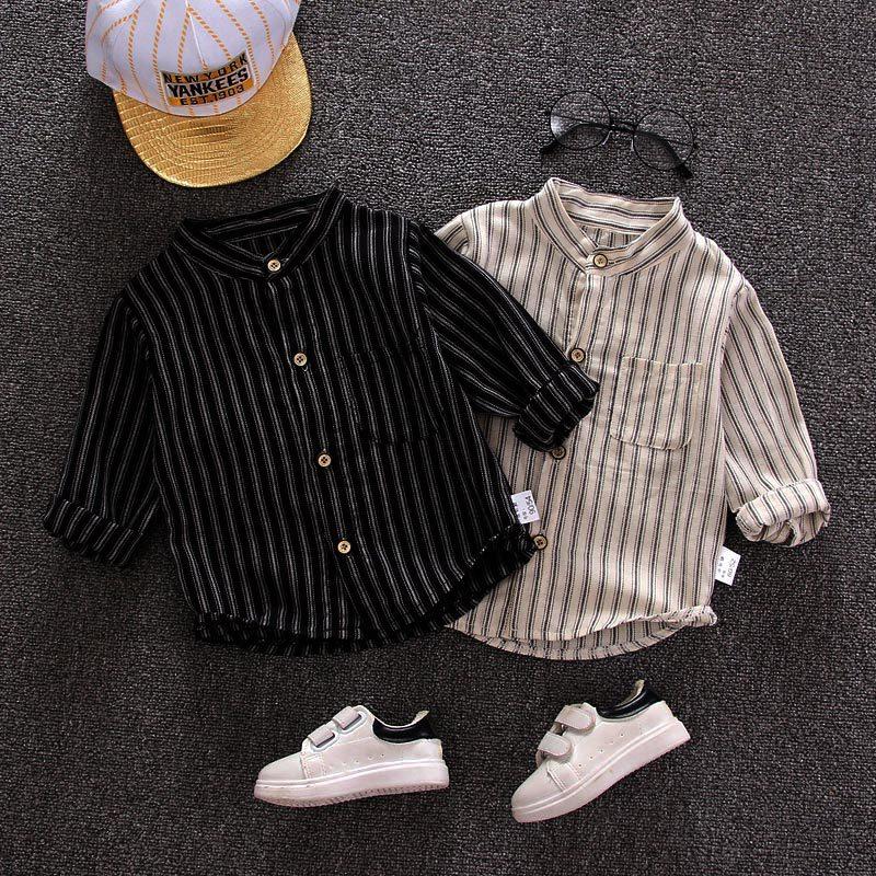 TIANCAIZHU Áo Sơ-mi trẻ em Quần áo trẻ em nam 2019 áo sơ mi nam trẻ em trẻ em mùa xuân và mùa thu áo
