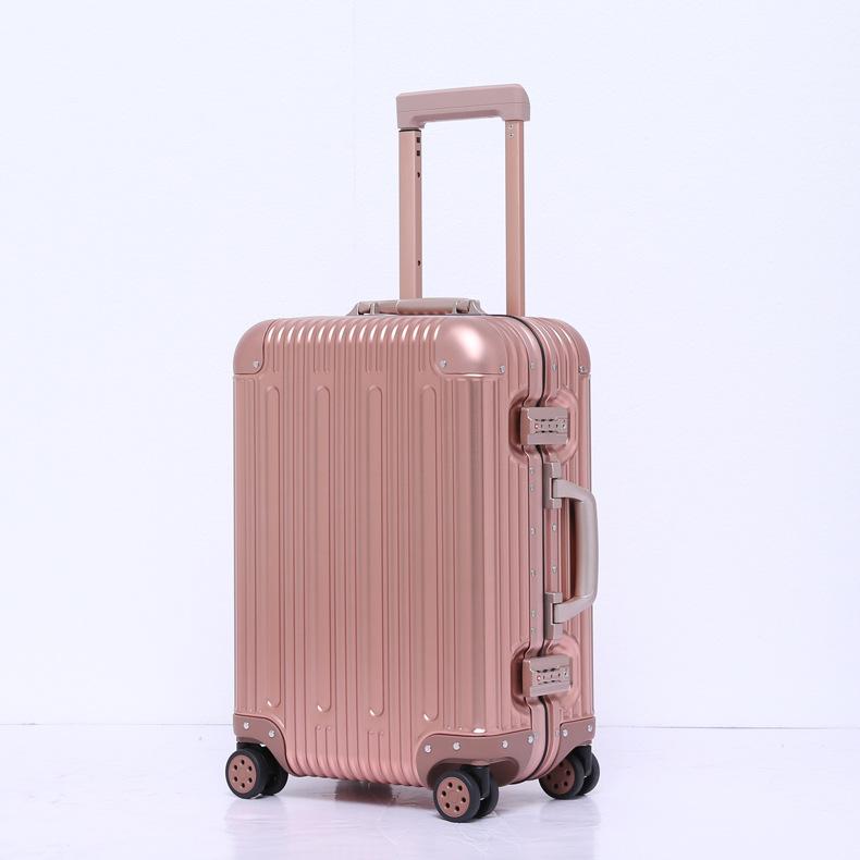 SHENGTANG VaLi hành lý Tất cả nhôm hợp kim magiê vali 20 inch kinh doanh xe đẩy hành lý vali phổ bán