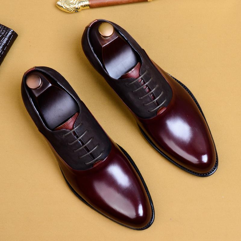 FAWEILU thị trường giày nam 2020 giày công sở mới của Anh, giày da nam cao cấp, giày chính thức, già