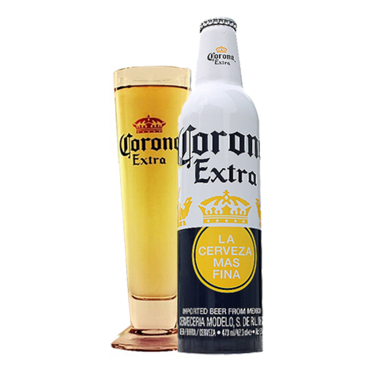 NLSX bia Bán buôn Mexico nhập khẩu chai nhôm chai bia 473ml chai 1x24