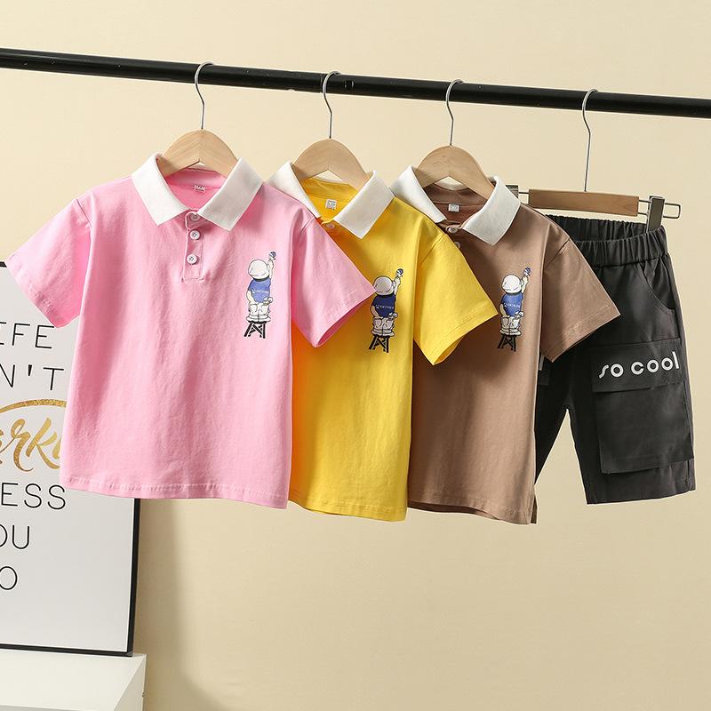 QQMS Trang phục trẻ em mùa hè Quần áo bé trai mùa hè 2020 mẫu mùa hè trẻ em lớn trẻ em tay ngắn mùa