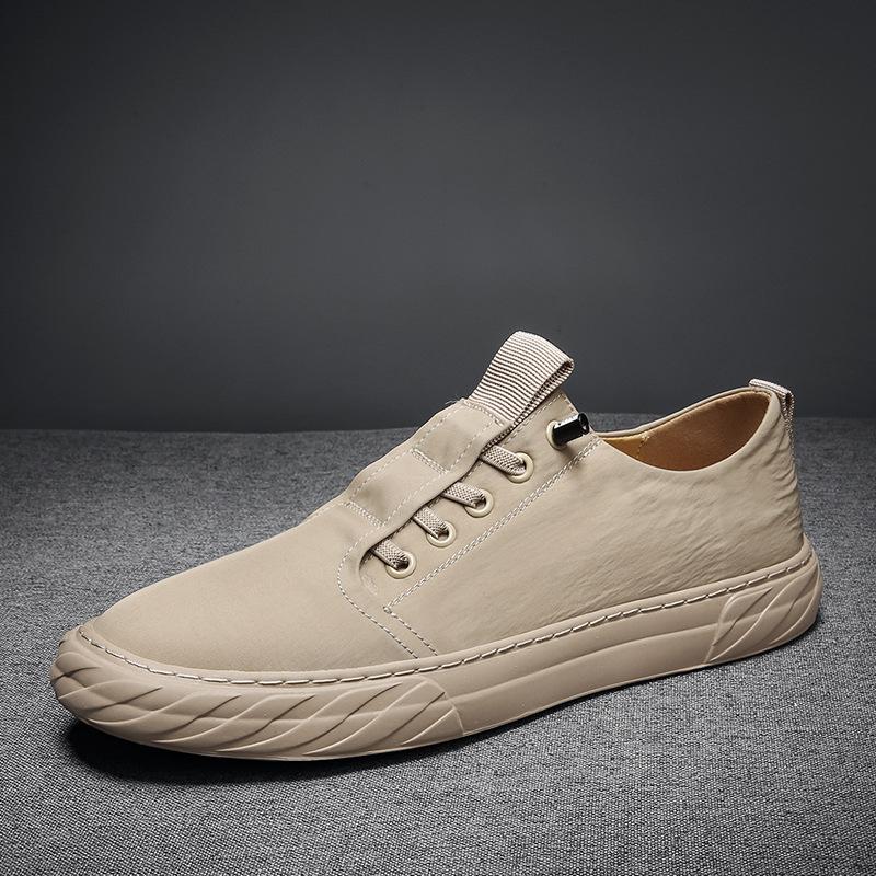 HX thị trường giày nam Mùa hè mới 2020 băng lụa vải thoáng khí giày ván rung cùng loại vải dù bình t