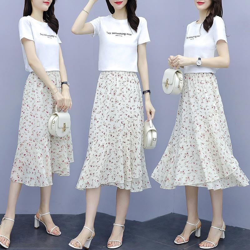 Đồ Suits Đầm voan nữ mùa hè mới eo thon gọn khí chất thời trang phù hợp với phụ nữ mùa hè mới lưới đ