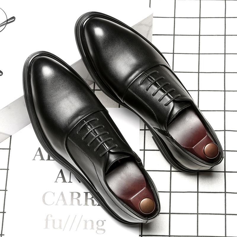 Giày da Giày nam đế nhọn mũi nhọn Hàn Quốc giày nam kinh doanh giày da chính thức Giày da nam mềm da