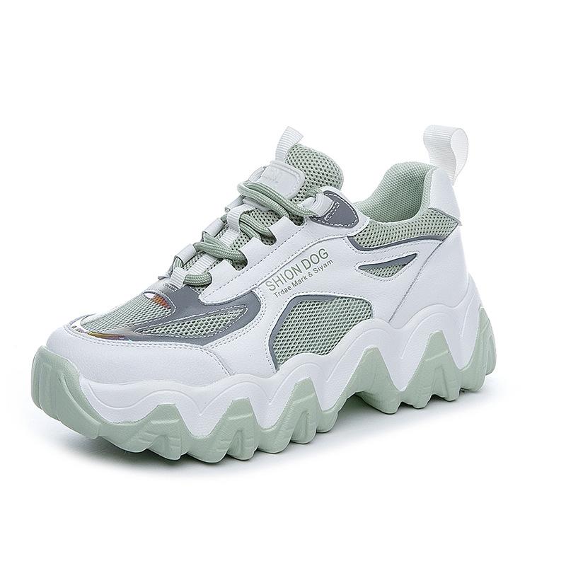 KANGERMEI giày bánh mì / giày Platform Mùa hè 2020 phụ nữ mới giày thể thao giản dị siêu lửa dày dướ