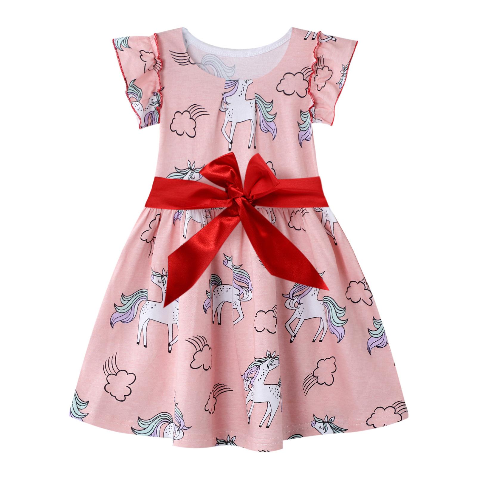 Gold treasure Âu Mỹ Quần áo trẻ em phong cách châu Âu và mùa hè Quần áo trẻ em mới váy cotton công c