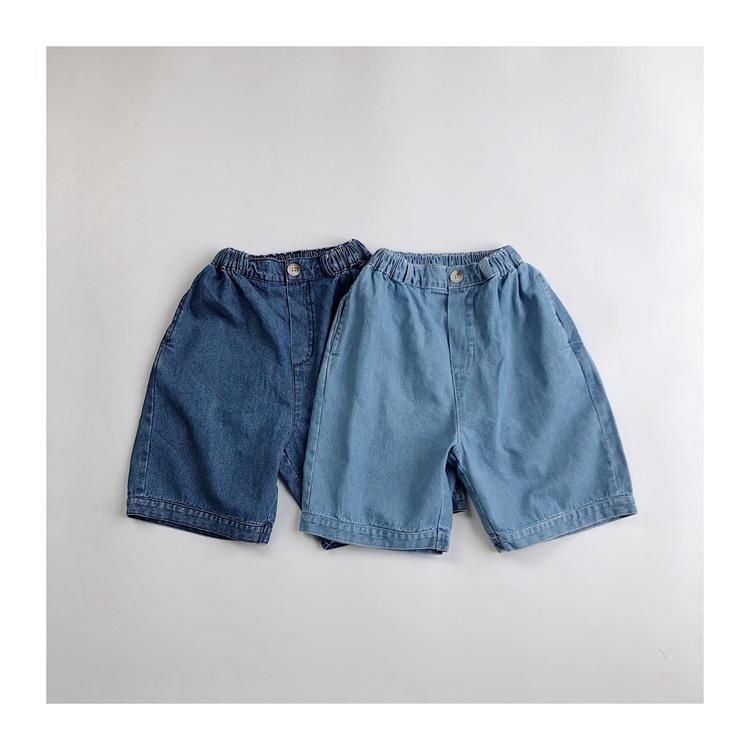 KQHZ Trang phục trẻ em mùa hè Quần áo trẻ em Hàn Quốc 2020 hè mới quần trẻ em năm điểm Phiên bản Hàn