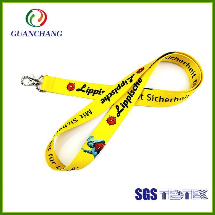 GUANCHANG dây đeo Nhà sản xuất tùy chỉnh chứng chỉ dây buộc điện thoại di động dây buộc giấy chứng n