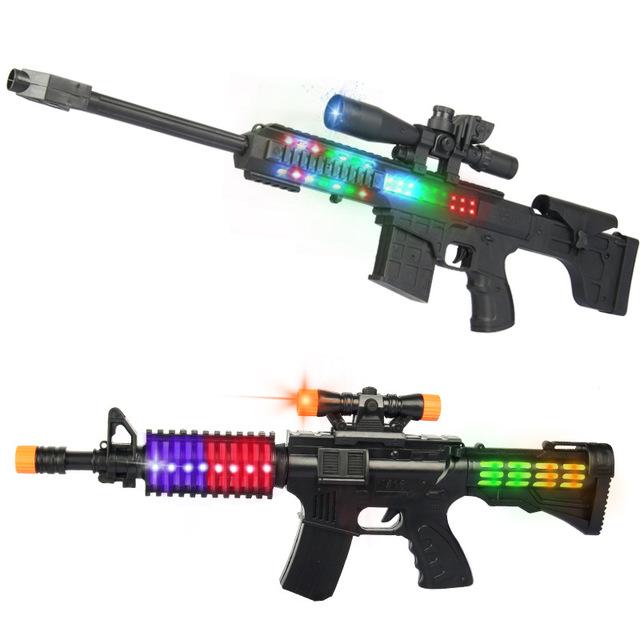 QICHENGYUE Súng giả 2020 nổ âm thanh điện và súng bắn tỉa nhẹ đồ chơi trẻ em tám giai điệu mô phỏng