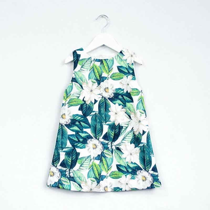 Trang phục trẻ em mùa hè Mẫu mùa hè của váy bé gái châu Âu và Mỹ 2019 mới dành cho bé gái làm vườn b