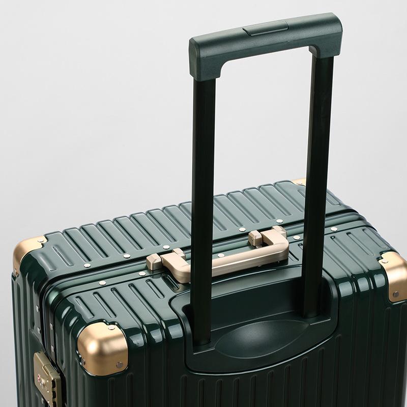 SGG thị trường túi - Vali Hợp thời trang xe đẩy phổ biến bánh xe khung nhôm 24 inch vali vali nam và