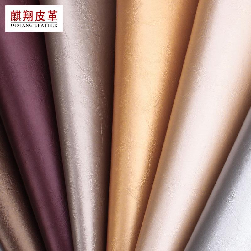QIXINAG da Nhà máy sản xuất da Nghĩa Ô da mềm túi da PVC trang trí tường bằng da pearlescent chống c