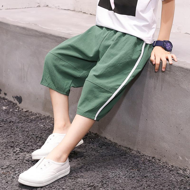 FEIFEIHU Quần trẻ em Quần lửng và bé trai bằng vải cotton và quần lửng của thương hiệu quần short co