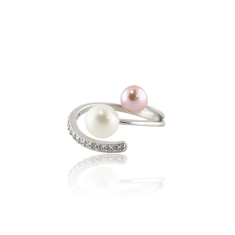 Phụ kiện thời trang J405 phụ kiện nổ Thời trang châu Âu và Mỹ đơn giản S925 sterling bạc nhẫn nữ mở