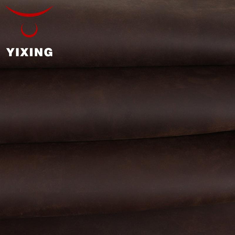 YIXING Da ngựa Nhà sản xuất cung cấp ghế sofa da ngựa điên chất liệu da handmade DIY crazy leather l