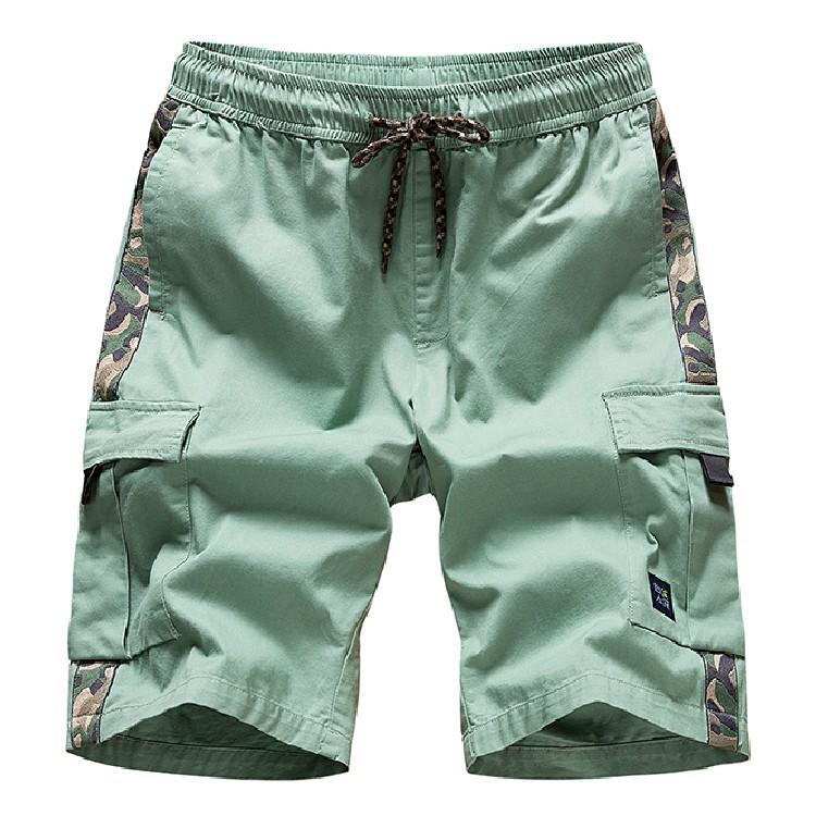 Quần Casual Mùa hè nam thể thao và giải trí bãi biển dụng cụ quần short cotton lỏng quần năm điểm qu