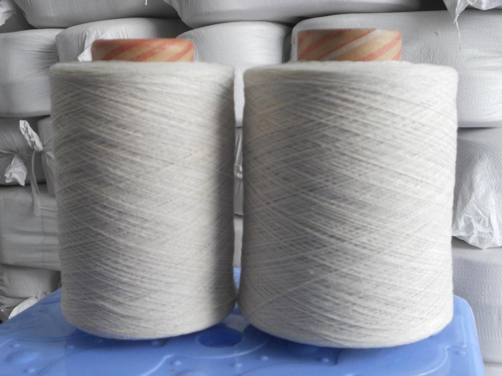 Sợi bông Nhà máy bán trực tiếp 7-10 sợi Titan tái chế sợi bông trắng