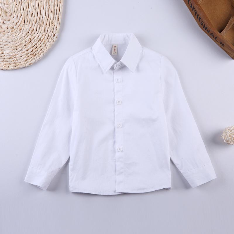 LBBB Áo Sơ-mi trẻ em Mùa xuân quần áo trẻ em áo sơ mi trẻ em phiên bản Hàn Quốc của áo bé trai màu r