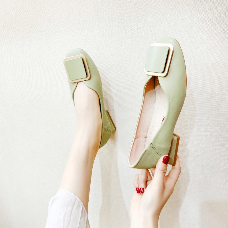 XINSHENGXIN Giày nữ trào lưu Hot Giày nữ Giày mùa hè Mary Jane Giày nữ mùa hè 2020 Giày đơn nữ Giày