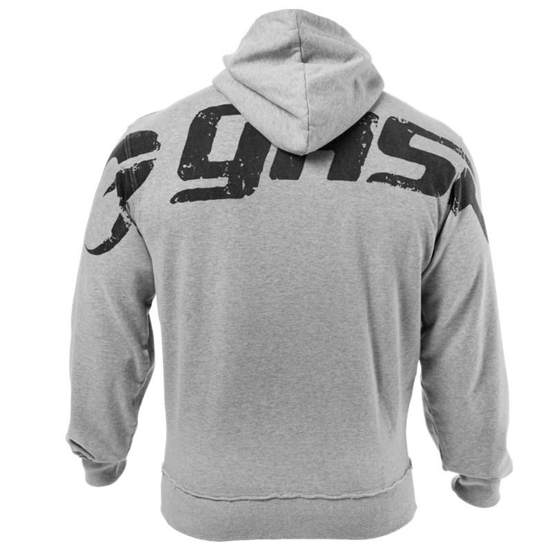 Sweater (Áo nỉ chui đầu) Cơ bắp thể dục nam thể thao áo len mùa thu và mùa đông giải trí mỏng thể th