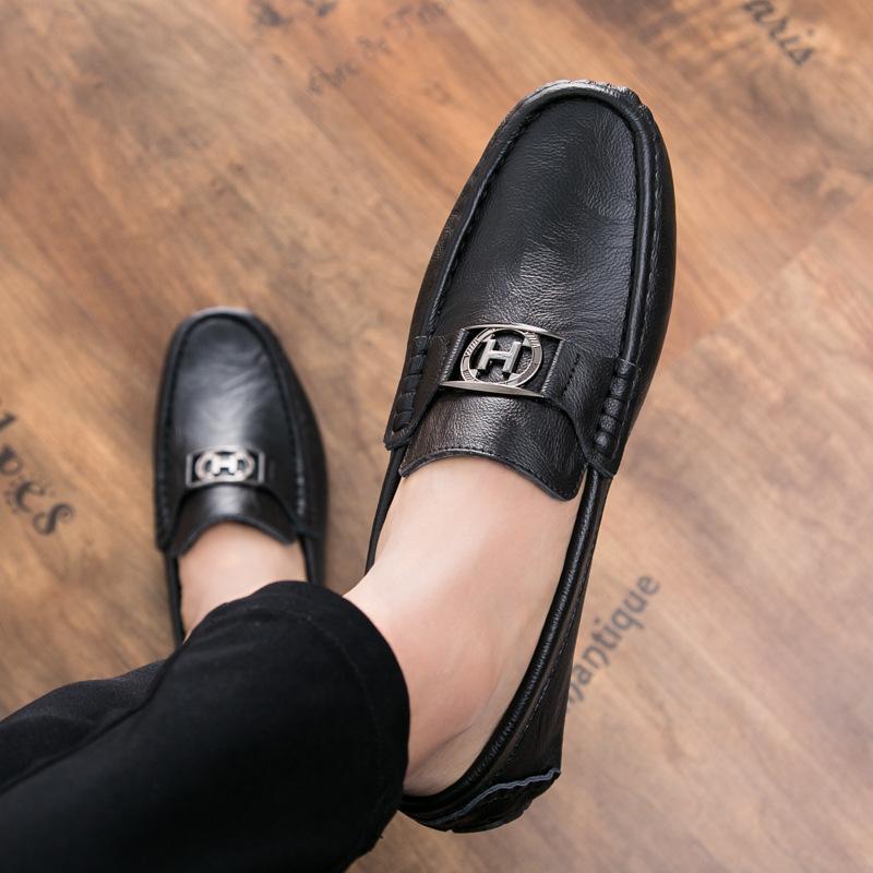 Giày mọi Gommino Giày nam thời trang giản dị Giày da hoang dã mùa hè Giày đậu nam phổ biến Giày lười