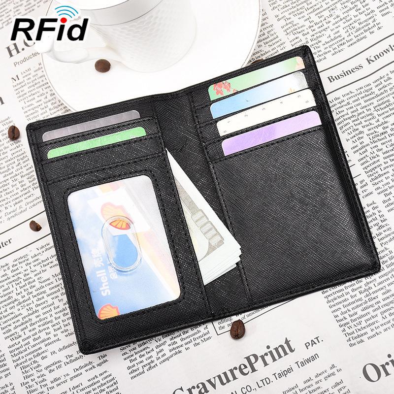 Ví đựng thẻ Chủ thẻ RFID mới nam siêu mỏng Đơn giản chủ thẻ Chủ thẻ nữ nhiều giấy phép lái xe bằng d