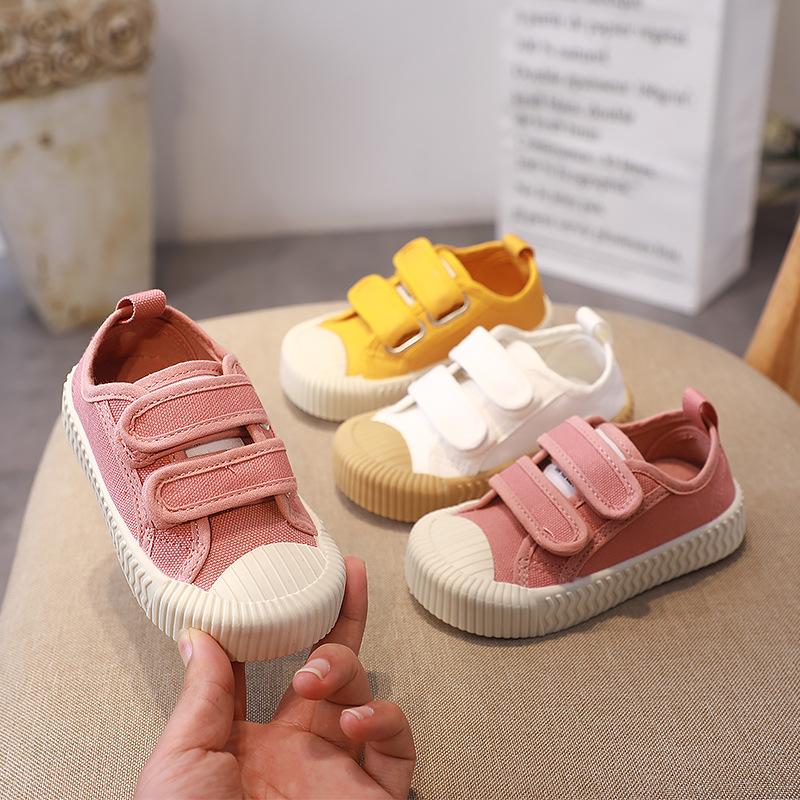 giày vải Giày dép trẻ em Hàn Quốc Giày mùa xuân và mùa thu Giày trẻ em thời trang Giày trẻ em bé tra