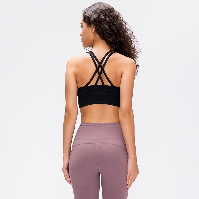 Đồ lót Mới chuyên nghiệp thể dục thể thao đồ lót nữ dây đeo vai chéo đẹp trở lại yoga chạy sốc áo ng