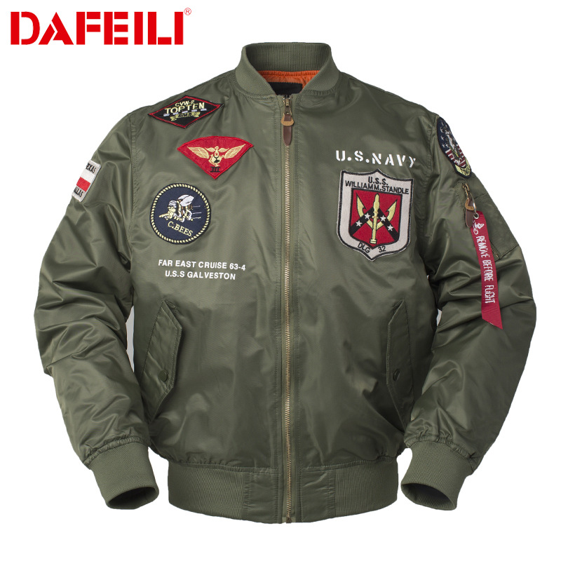 Áo khoác TOP GUN Mùa xuân và mùa thu MA-1 Flying Tigerers Người mẫu đại bàng kiêu ngạo khát vọng áo