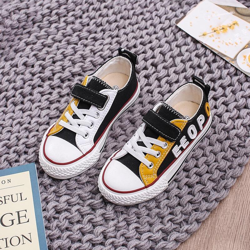 Giày vải trẻ em mùa xuân và mùa hè mới cho bé trai chống va chạm thể thao giày thông thường low-top