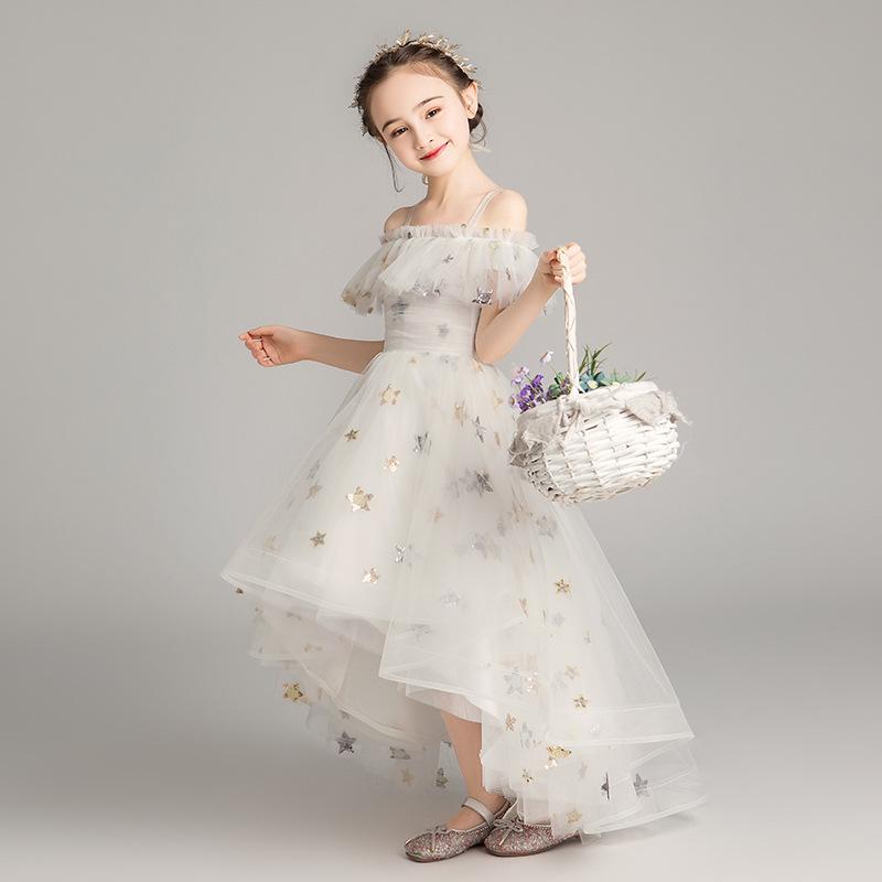 Trang phục dạ hôi trẻ em Trẻ em công chúa ăn mặc cô gái fluffy sợi chủ nhà biểu diễn đàn piano trang