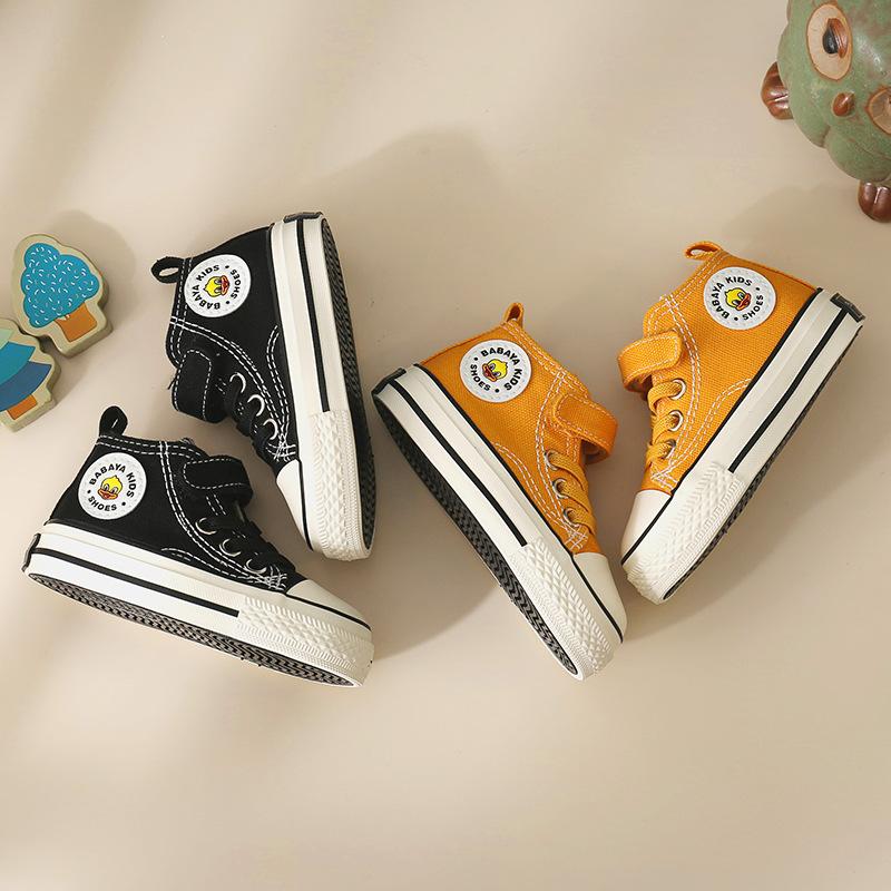 giày vải Giày trẻ em 20 mùa thu mới giày cao cấp giày cao cổ hoang dã thoải mái thoải mái đế mềm đơn
