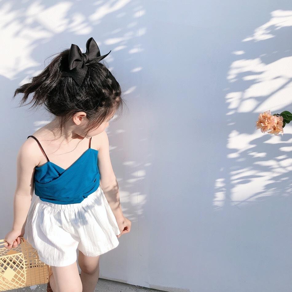 Áo ba lỗ / Áo hai dây trẻ em YU.KIDS cho bé gái mùa hè phiên bản Hàn Quốc mới của vest nữ bé hoang d