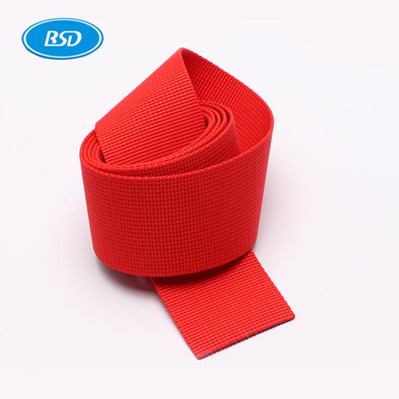 BSD đai dệt Nhà máy cung cấp trực tiếp dày polypropylen pp pit mẫu Hoa Kỳ ba lô ruy băng với dây đeo