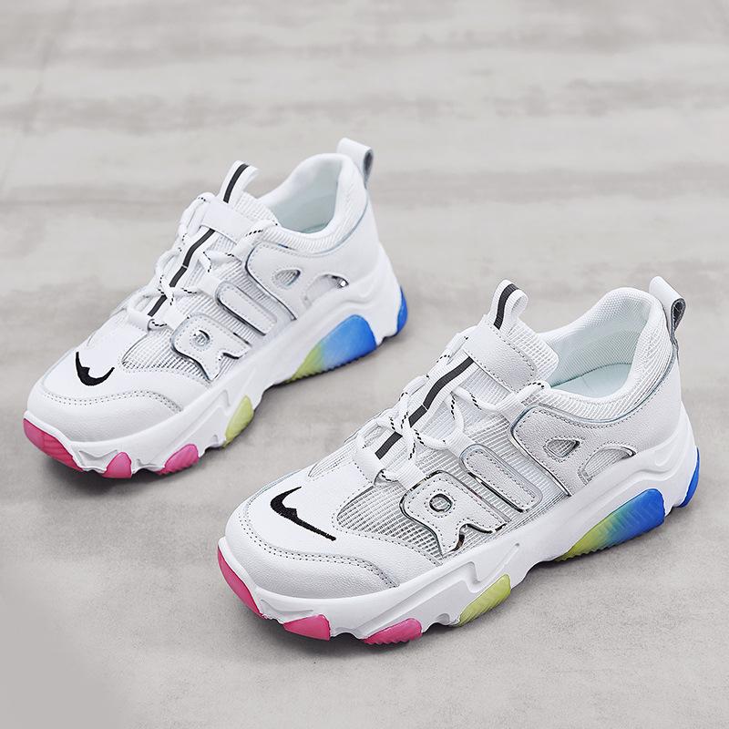 LU-LUXURY Giày nữ trào lưu Hot Giày du lịch thanh niên 2020 hè mới lưới đơn thoáng khí giày chạy bộ
