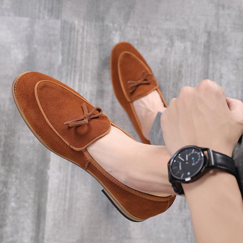 SJJL thị trường giày nam Giày da nam màu da hoang dã của Anh