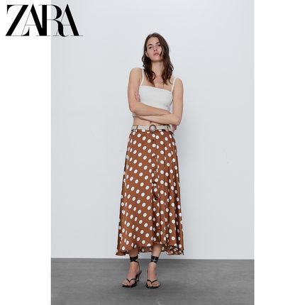 ZARA váy  Váy in chấm bi của phụ nữ mới ZARA 04387058087