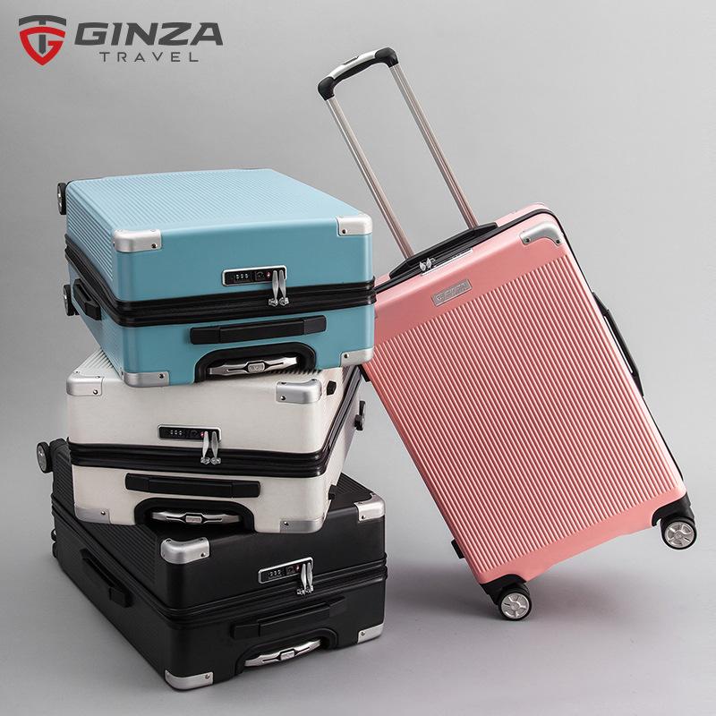 YINZUO VaLi hành lý Ginza mới xe đẩy trường hợp câm phổ bánh xe mật khẩu khóa sinh viên vali hành lý