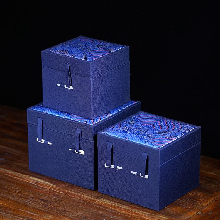 TANGREN NLSX bao bì Các nhà sản xuất bao bì Yi Tangren bán vải Yunjin cao cấp hộp thổ cẩm hộp vuông