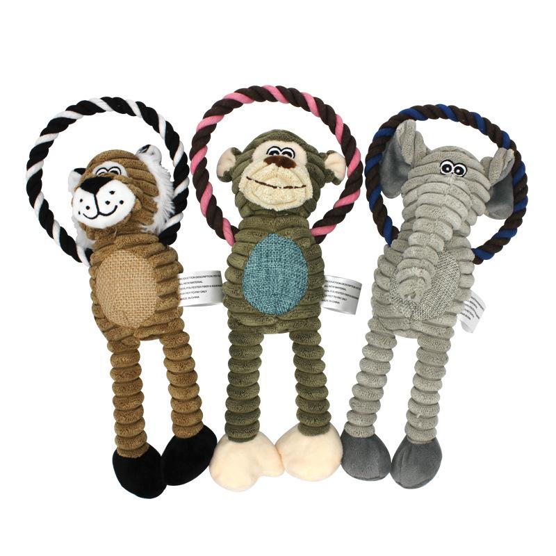 Vật nuôi Nhà máy xuyên biên giới bán buôn đồ chơi thú cưng mới liệt kê dây bông sang trọng cắn đồ ch
