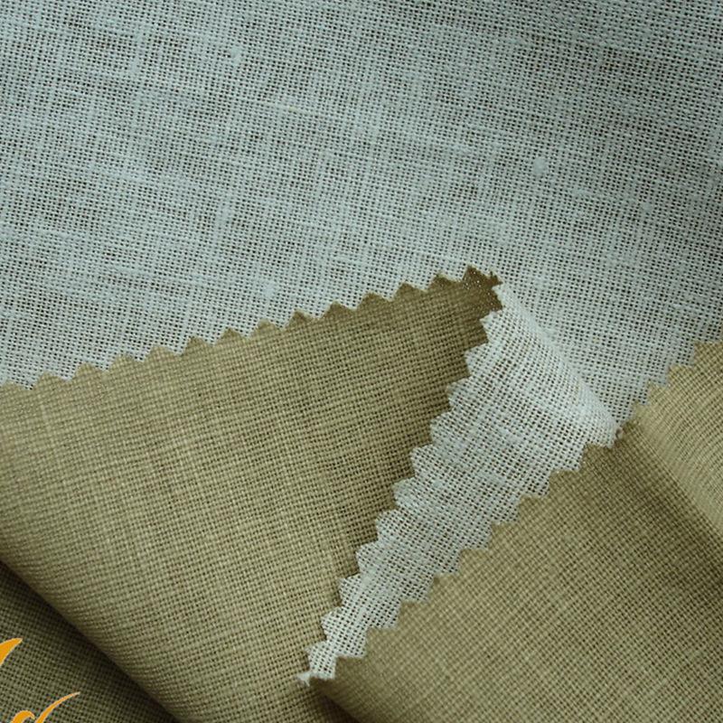 JINHAINIAO Vải mộc pha Dệt may nhà 2019 đan xen vải cotton nhuộm màu mùa xuân và mùa hè dệt trơn cá