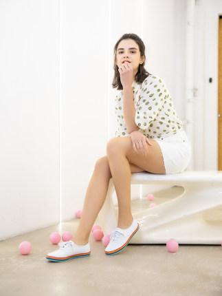 Giày nữ trào lưu Hot  Cửa hàng hàng đầu của Kede mùa xuân và mùa hè màu vải tương phản đường phố bắn