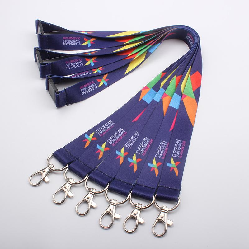 dây đeo Giấy chứng nhận tùy chỉnh dây buộc dây buộc dây vải xử lý truyền nhiệt không phai và có thể