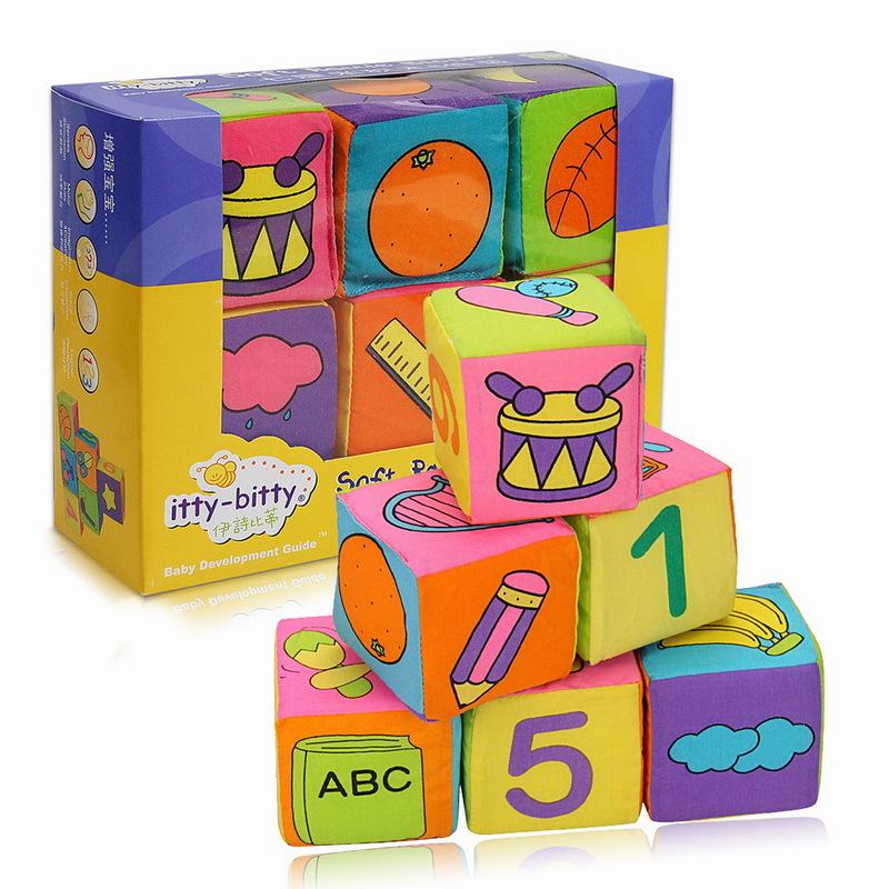 Đồ chơi sắp xếp khối xây dựng bằng vải đa chức năng .