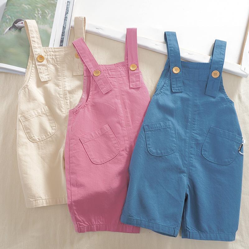 MIGU Trang phục trẻ em mùa hè Quần áo trẻ em hè 2020 Quần yếm trẻ em nam và nữ từ 1 đến 8 tuổi Phiên