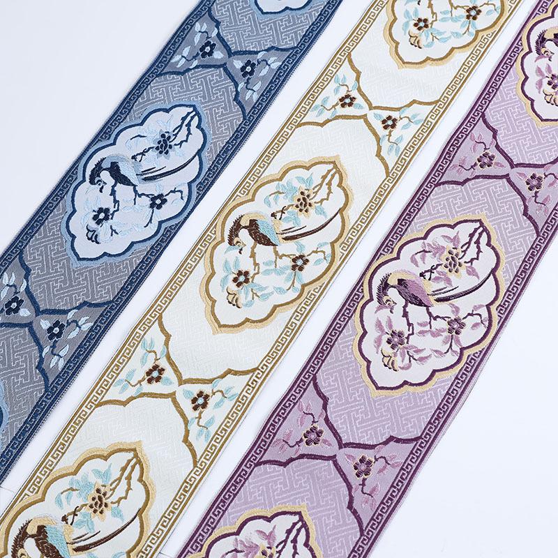 YANGGUANG Dây cột rèm 11,5CM phong cách châu Âu khâu jacquard viền vải vải dân tộc ren gió ruy băng
